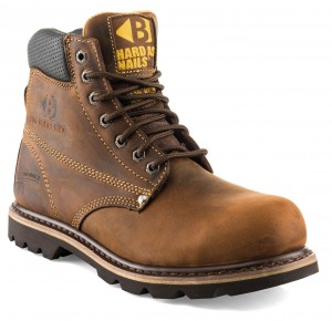 Buckler B425SM Cowhide Lined Safety Work Boots Dark Brown (Sizes 6-13)