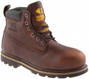 Buckler B750SMWP Waterproof Safety Work Boots Dark Brown Weathergrain Leather (Sizes 4-13)