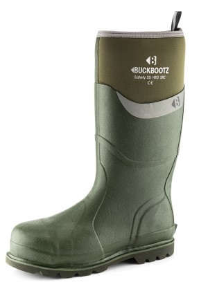 Buckler BBZ6000GR Waterproof Rubber Safety Wellington Boots Green (Sizes 5-13)