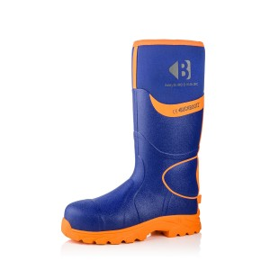 Buckler BBZ8000 Waterproof Safety Wellington Boots Blue & Orange (Sizes 3-13)