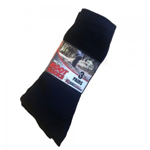 Mad4Tools Mens Boot Socks Black (Pack of 3 Pairs) Workwear Hiking