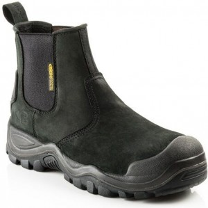 Buckler BSH006BK Safety Dealer Work Boots Black (Sizes 6-12)