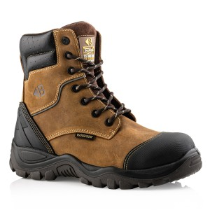 Buckler BSH008WPNM High Leg Waterproof Safety Work Boots Brown (Sizes 6-13)