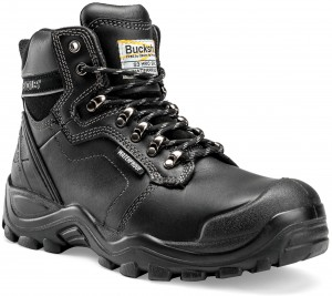 Buckler BSH009BK Waterproof Anti-Scuff Safety Work Boots Black (Sizes 6-13)