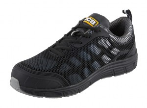 JCB Cagelow Safety Work Trainer Shoes Black/Grey (Sizes 3-12)