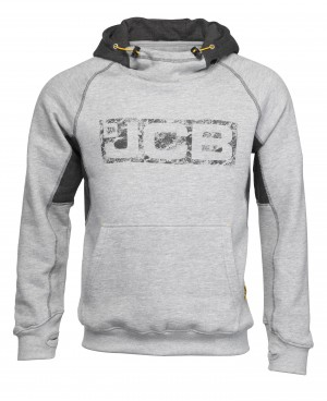 JCB Horton Hoodie Grey (Sizes S-XXL) Work Hooded Jumper