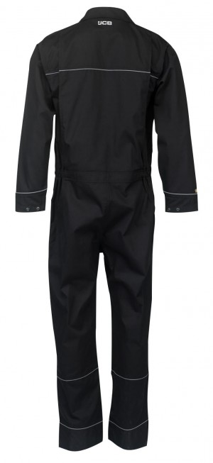 JCB Trade Long Sleeved Coveralls Black (Various Sizes)