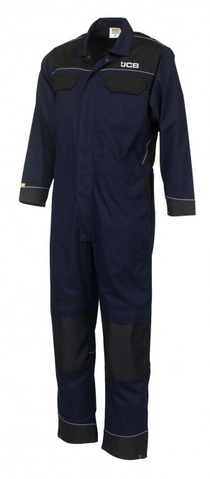JCB Trade Long Sleeved Coveralls Navy (Various Sizes)