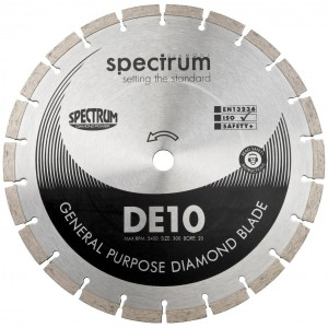 Spectrum DE10 Standard General Purpose Diamond Blade (Sizes 105mm - 300mm)