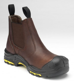 JCB Dealer Safety Work Boots Brown (Sizes 6-13)