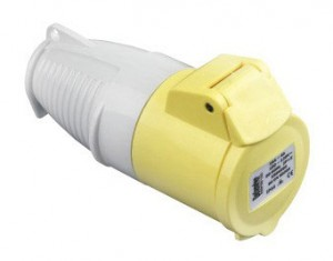 Defender 110v 16amp Yellow Coupler/Socket E884055