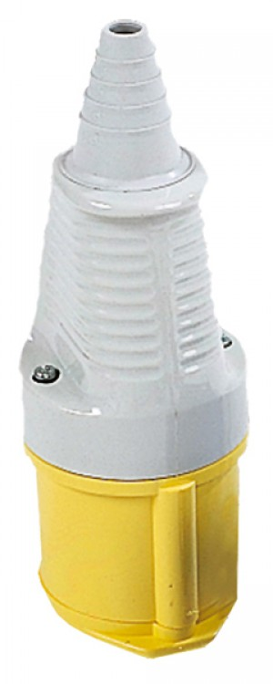 Defender 32amp Industrial Coupler/Socket Yellow 110v