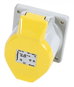 Defender 32amp Industrial Panel Socket Yellow 110v