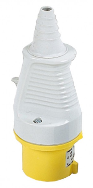 Defender 32amp Industrial Plug Yellow 110v
