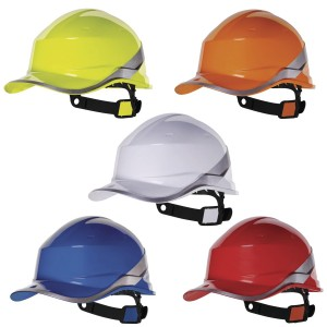 Delta Plus DIAMOND V Safety Bump Cap Hard Hat Helmet ABS Baseball Style Cap (Various Colours)
