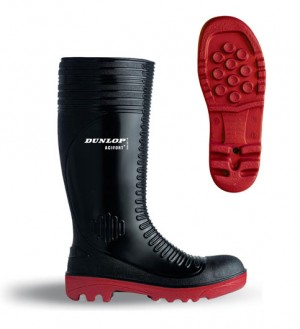 Dunlop 18808 Acifort Black & Red Full Safety Wellington Boots (Sizes 6-12)