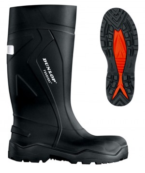 Dunlop Purofort + Black Full Safety Wellington Boots (Sizes 6-13)