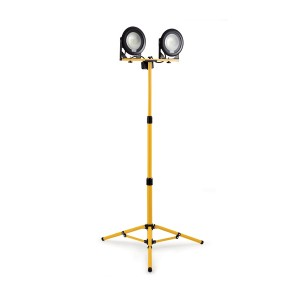 Defender DF1200 LED Twin Head Work Light with Telescopic Tripod (110v or 240v)
