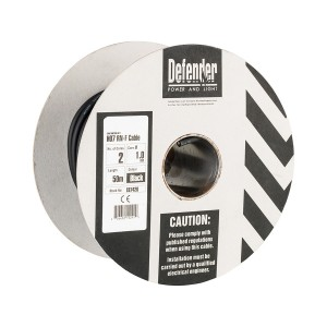 Defender H07 RN-F Black Rubber Cable 50mtr Drum (various options)