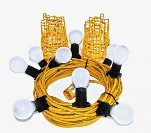Elite 22m Festoon Lighting Kit ES Fittings & Bulbs 110v