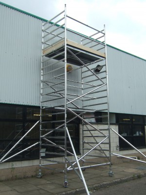 Euro 232 3T Alloy Scaffold Tower - D/W x 2m Length (various heights)