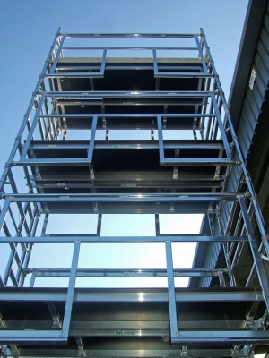 Euro Advanced Guardrail (AGR) Alloy Scaffold Tower - D/W x 2.5m Length (various heights)