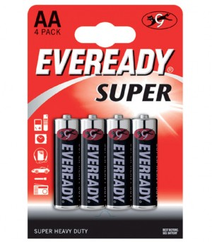 Eveready Super Heavy Duty AA Batteries (Pack of 4)