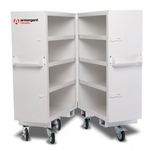 Armorgard FittingStor Mobile Pipe Fittings Secure Storage Folding Cabinet 960x985x1375mm