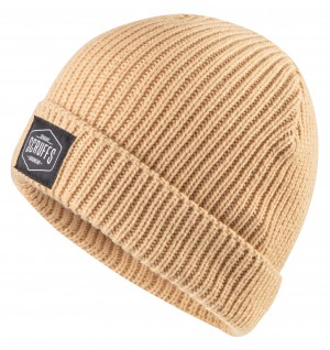 Scruffs Knitted Beanie Hat Sand