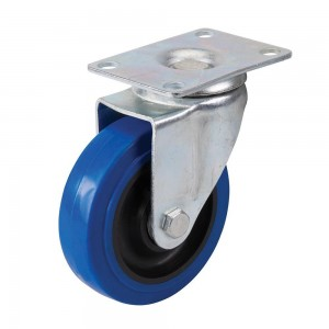 Fixman Blue Elastic Rubber Castor Wheel (Various Sizes)