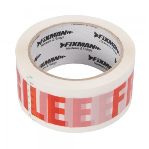 Fixman Fragile Packing / Parcel Tape 48mm x 66 Metres
