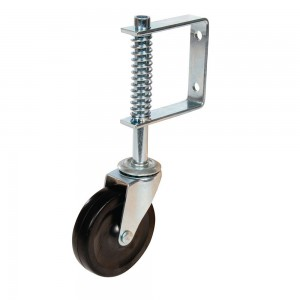 Fixman Gate Castor Wheel Spring Loaded 100mm 57kg