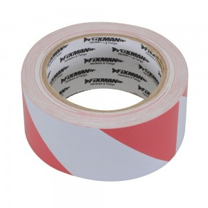 Fixman Hazard Tape 50mm x 33 Metres (Red/White or Black/Yellow)