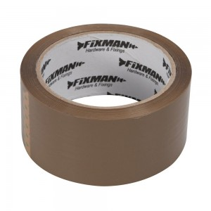 Fixman Packing / Parcel Tape Brown 48mm x 66 Metres