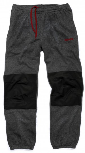 Scruffs Vintage Fleece Jogger Pants Dark Grey (Sizes S-XXL) Knee Pad Insert Workwear Jogging Bottoms