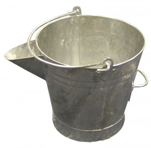 Galvanised V-Lipped Bucket (for use with Tar Boilers)