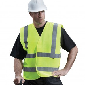 Graft Gear Yellow Hi Vis Waistcoat High Viz Visibility Vest Bibs EN471 (Sizes M-XXXL)