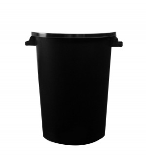 Heavy Duty Black Plastic Waste / Rubbish Dustbin 90 / 85 Litre (With or Without Lid)