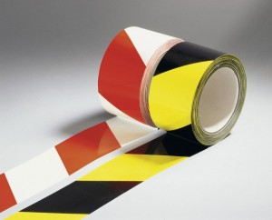 Hi-Vis Reflective Hazard / Danger Warning Tape 10mtr x 50mm Wide (Various Colours)