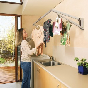 Hills Supa Fold Mini Wall Mounted Folding Clothes Washing Line