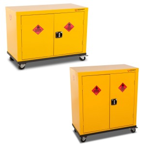 Armorgard SafeStor Mobile Chemical Storage Cabinet (Various Sizes)