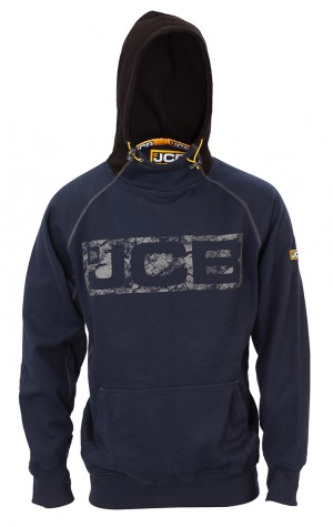 JCB Horton Hoodie Navy/Black (Sizes S-XXL) Work Hooded Jumper