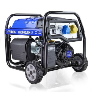 Hyundai HY3800LEk-2 Long Run Petrol Generator 3.2kW/4kVA Elec Start