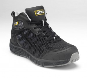 JCB Hydradig Essential Lightweight Safety Work Boots Black (Sizes 3-12)