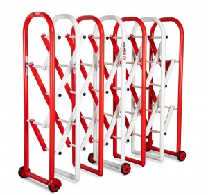 Armorgard InstaGate Concertina Expandable Safety Barrier Red & White 2185x540x1380mm