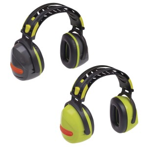 Delta Plus INTERLAGOS Adjustable Safety Ear Muffs / Defenders (Yellow or Grey) SNR 33 dB