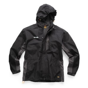 Scruffs Worker Waterproof Coat Jacket Black & Grey (Sizes S-XXL)