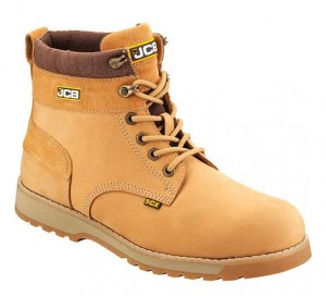 JCB 5CX Safety Work Boots Tan Honey (Sizes 6-12) Steel Toecap & Midsole