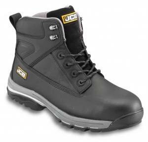 JCB FAST-TRACK Safety Waterproof Work Boots Black (Sizes 6-13)