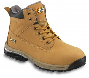 JCB WORKMAX Safety Work Boots Tan Honey (Sizes 6-13) Steel Toecap & Midsole